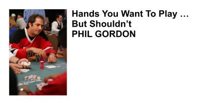 Phil Gordon Professional Poker Player