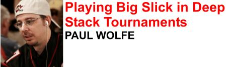 Paul Wolfe another great poker professional in the Full Tilt Poker team
