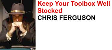 Chris Ferguson - excellent to watch on tv - even better to play online!