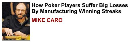 Mike Caro plays online at Doyles Room poker