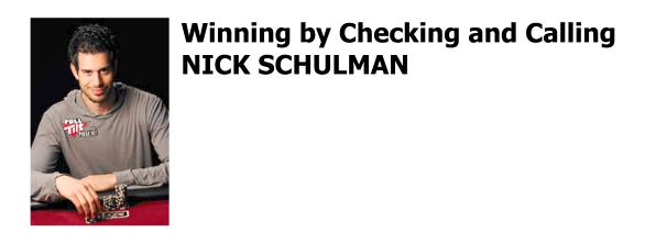 Nick Schulman Professional Poker Player