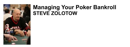 Steve Zolotow professional poker player