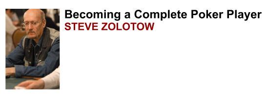 Steve Zolotow plays poker online at FullTiltPoker.com